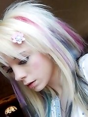Gorgeous emo teens pose and play