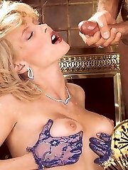 Rich retro lady gets fucked