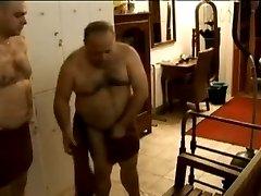 Chubby Gay Bears Fuck in Shower