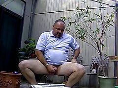 Daddy on the deck