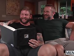 Dirk Caber takes Colby Jansens hard cock balls deep