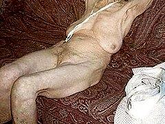 Very old women posing