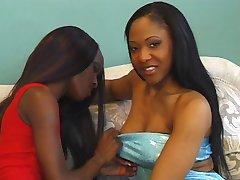 Ebony sluts pounded hard