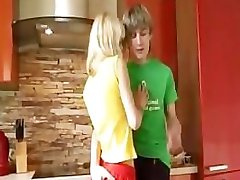 18yo blondie from europe gives handjob