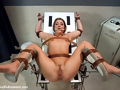 The incredibly sexy Sheena Shaw submits beautifully in this great update with role-play, rough sex and hard bondage!  She loves being face fucked and pounded in her ass and pussy while bound.  Her flexibility allows us to tie her legs apart in splits and put her in positions that give full access to all of her holes.