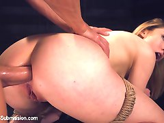 Luscious Lily LaBeau is tied up spread eagle against the wall in a dark, cold dungeon. She...