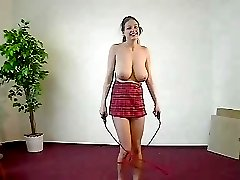 Busty Jumping Rope
