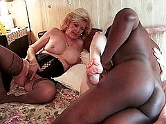 Grandma sluts enjoying a hard black cock