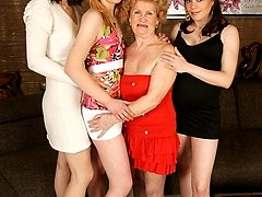 These horny housewives get wet and wild