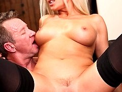 Diana is a blonde MILF with big tits and a hot body