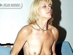 Slutty mature Ritta got herself a horny bald hottie and got her mouth and pussy filled with a...