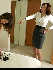 Dominant Miss Abi makes Mary masturbate