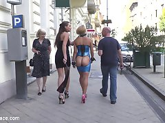 Its Nikki Thorns turn to be publicly embarrassed, walking through the streets with her ass on...