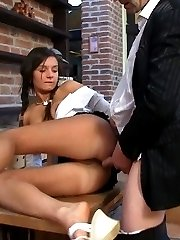 Sexy Lara jumped on a huge erected cock after he started touching her and playing with her clit...