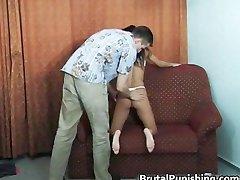 Hard-core bondage and brutal punishement part1