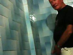 Hot older men in the urinals