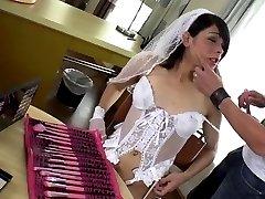 Shemale bride Gabriela hardcore anal sex