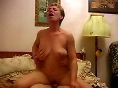 Mature housewife with lucky guy