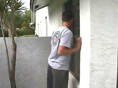 Pervert peeps in neighbor MILF window gets caught