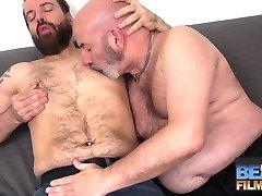 Sam Black fucks bald daddy Rob Foster