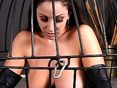 Jewell Marceau is locked in a cage and suspended off the ground. With nothing else to do, she...