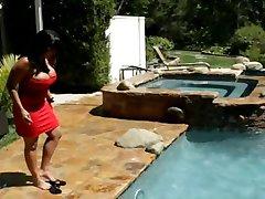 Ava Devine fucking anal near the pool