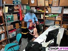 Shoplifter Alex Harper Gets Fucked In The Office