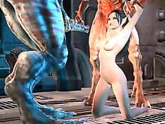 3D 3way and some hard Monster fucking