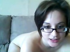 Woman with glasses on webcam part 2 gra