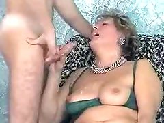 Mature receives huge facial