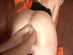 Lesbian double anal fist