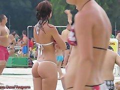 Hot Bikini  Teens Tanning In The Sun