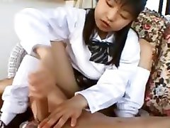 21yo girlfriend from Japan gives handjob