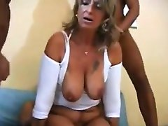 Mature Woman In A Foursome