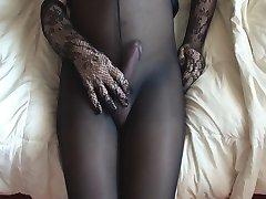Cumming in my black pantyhose