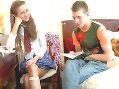 Schoolgirl gets bummed