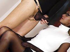 Black nylon encasement secretary