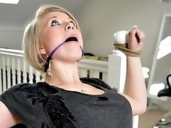 Beautiful Tied Virgin Mia Bound and made to pay