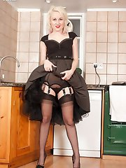 Sometimes the best place to be at a party is in the kitchen, with Kiana getting hot in black...