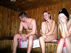 Hot girls in the hot sauna images