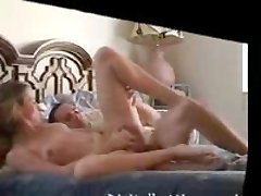 Horny wife in doggy before husband