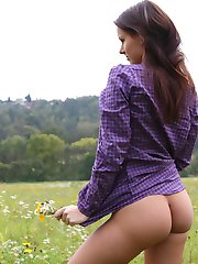 Gloria has always loved nature but not in the way that most people love nature, Gloria loves nature because she loves flashing her sweet pussy out where there is a chance that she will get caught by a complete stranger!