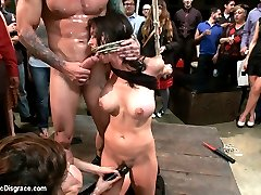 Brandy Aniston gets publicly disgraced for the first time ever and LOVES IT!!! She is tied, and...