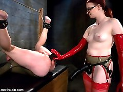 Claire Adams completely dominates this update with full rubber confinement, insane anal penetration, double ass fisting and a fully mummified, inverted bondage suspension.  This is crazy.