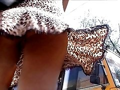 Amazing teen upskirt shot in closeup