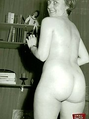 Showing her vintage asses