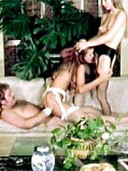 Classic girls sharing cock