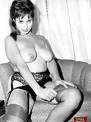 Hot girls wearing garters