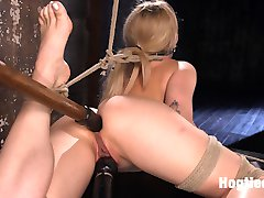 Behind Dahlia Sky's sweet smile is a dirty little slut that loves having her limits tested. She's tied up and tied down in punishing bondage, and made to endure a hard fucking in all her holes until she cums like the masochistic whore she is.