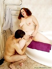 Hot fatty loves getting it hard in her huge pussybr